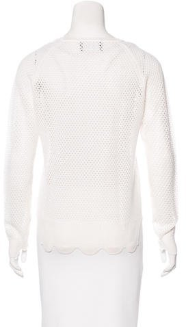 Simone Rocha Embellished Open-Knit Sweater