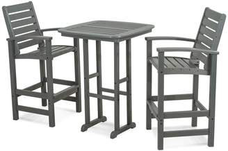 Polywood 3-piece Signature Outdoor Bar Chair & Table Set