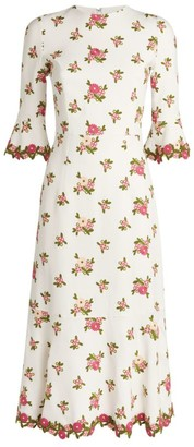 Andrew Gn Floral Midi Dress