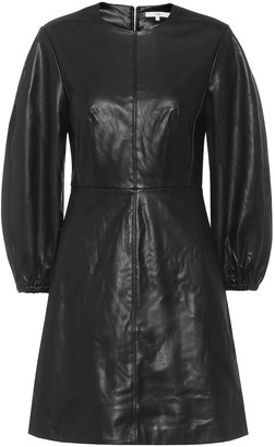 Tibi Faux-leather minidress