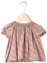 Bonpoint Girls' Floral Print Short Sleeve Top