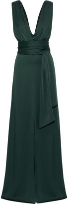 Victoria Beckham Draped Satin-crepe Gown