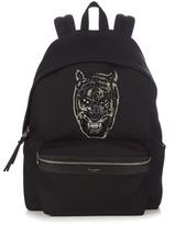 Saint Laurent Embroidered Tiger Canvas Backpack