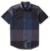 Hurley Thompson Short-Sleeve Buffalo Check Shirt