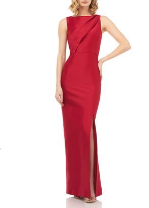 Kay Unger New York Serena Sleeveless Mikado Column Gown
