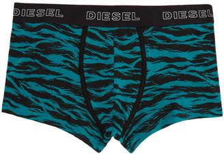 Diesel Three-Pack Black and Blue UMBX Damien Boxer Briefs