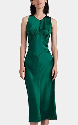 Zac Posen Women's Crêpe De Chine Fitted Dress - Green