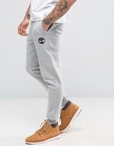 Timberland Slim Logo Cuffed Sweatpants In Gray