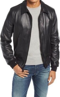 Schott NYC Lambskin Leather Bomber Jacket