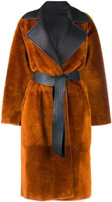 Blancha Reversible Tie-Waist Coat