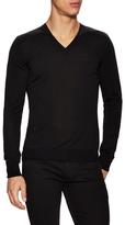 Christian Dior Solid V-Neck Sweater