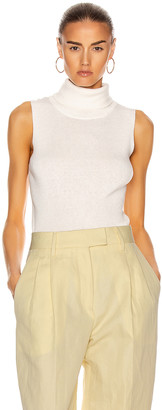 REMAIN Mantova Sleeveless Roll Neck Top in White Asparagus | FWRD