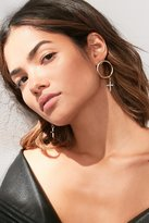 Urban Outfitters Cross Drop Statement Earring