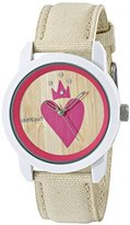 Sprout Women's ST/8002TNTN Swarovski Crystal Accented Heart Theme Dial Tan Organic Cotton Strap Watch