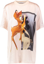 Givenchy Oversized printed silk-satin T-shirt