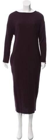 Black Crane Oversize Sweater Dress