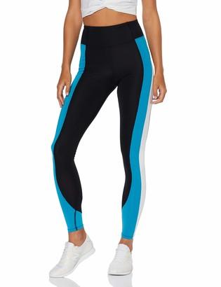 Aurique Amazon Brand Women's High Waisted Colour Block Sports Leggings