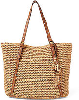 Lauren Ralph Lauren Goswell Collection Hayden Tasseled Straw Tote