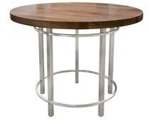 "John Boos Metropolitan Dining Table Top Color: Maple, Size: 36"" H x 36"" L x 36"" W"