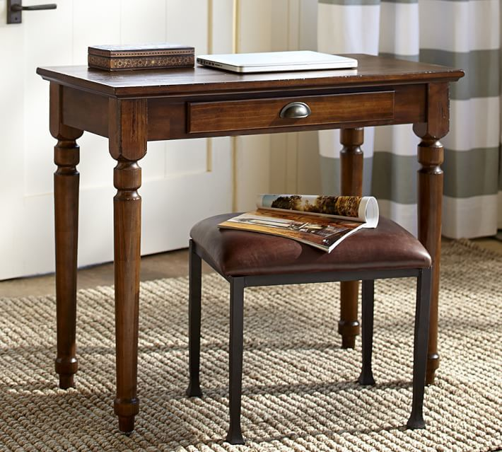 Pottery Barn Printer's Writing Desk - Small, Tuscan Chestnut