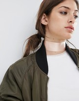 Asos Wide Satin Choker Necklace