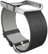 Fitbit Blaze Black Leather Accessory Band, Large