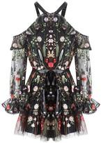 Alexis Adeline Dress Black Garden