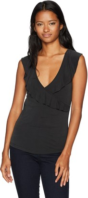 LIRA Women's Bella Strappy Wrap Ruffle Top