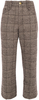 Marc Jacobs Cropped Prince Of Wales Checked Boucle Straight-leg Pants