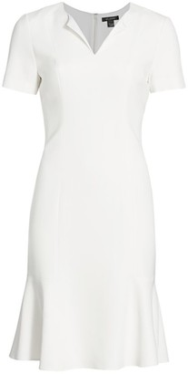 St. John Cady Splitneck Flutter Dress