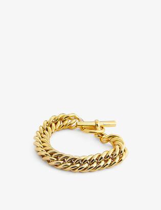 Tilly Sveaas Ltd Large Curb 23.5ct gold-plated bracelet