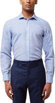 Jaeger Men's Horizontal Weave Slim Shirt