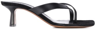 Neous Florae cross-thong sandals