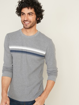 Old Navy Chest-Stripe Thermal-Knit Tee for Men