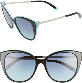 Tiffany & Co. 55mm Gradient Cat Eye Sunglasses