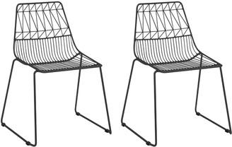 Acessentials Kids Geometric Wire Chairs 2-Piece Set