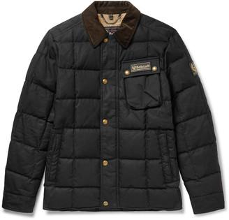 Belstaff Ranger Cotton Corduroy-Trimmed Quilted Cotton-Canvas Down Jacket