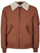 Topman Topman Rust Padded Flight Jacket