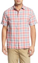 Tommy Bahama Men's 'Maduro' Trim Fit Plaid Sport Shirt