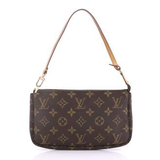 Louis Vuitton Pochette Accessoire Brown Cloth Clutch Bag