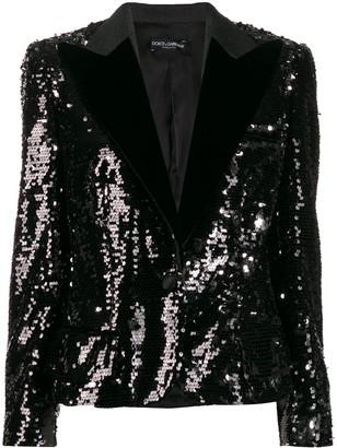 Dolce & Gabbana sequin embroidered blazer
