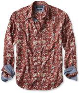 Banana Republic Camden-Fit Custom 078 Wash Rust Floral Shirt