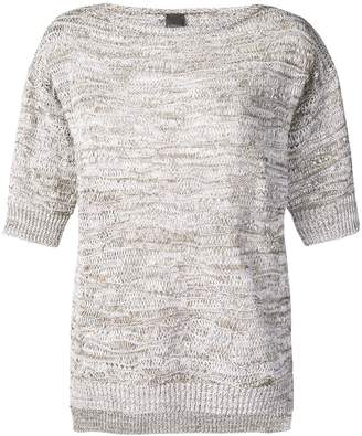 Lorena Antoniazzi Round Neck Knitted Top