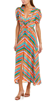 Saloni Lea Silk Maxi Dress