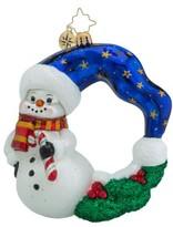 Christopher Radko 'Cool Chaplet' Snowman Wreath Ornament