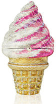 Judith Leiber Couture Ice Cream Cone Crystal Clutch Bag