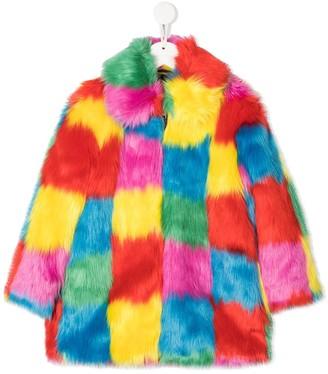 Stella McCartney Kids TEEN faux fur coat