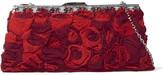 Valentino Crystal-embellished appliquéd voile shoulder bag