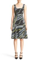 Erdem Women's Tate Floral Print Neoprene A-Line Dress