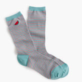 J.Crew Striped trouser socks with critters